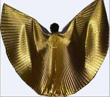 * High Quality Gorgeous Sexy Belly Dance Costume ISIS WINGS With Sticks..GOLD **