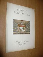 TEATRO ALLA SCALA STAGIONE LIRICA 1950-51 IL COMBATTIMENTO DI TANCREDI CLORINDA