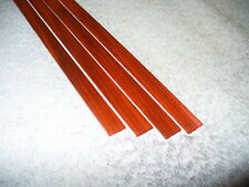 "Redheart (Chakte Kok) 1/2"" wide solid wood guitar binding strips, 4 pieces"