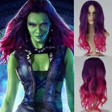 Hot ! Guardians of the Galaxy Gamora Purple element volume wigs cosplay wig