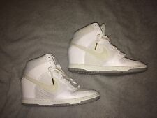 Nike Dunk Sky Hi Wedge White Wolf Grey 644877 Sneakers Women's Size 9.5