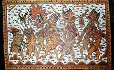 Bali - Malerei auf Tuch - Kamasan - Balinese Langse - 20.Jh. - 43 x 65 cm - Top!