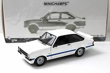 1:18 Minichamps Ford Escort RS II 1800 WHITE 1975 RHD NEW in Premium-MODELCARS