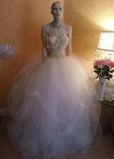 Ivory Goddess Sheer Beaded Corset Tulle Tutu Skirt Bridal Wedding Ball Gown