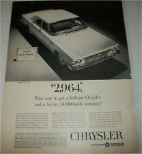 1963 Chrysler Newport 4 dr ht car ad #1