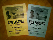 1st 1933 MINT! 2x XL Movie Poster SOS EISBERG Leni Riefenstahl-Ernst Udet+Fanck