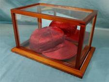 """Gift Giving! """"1930's"""" NEGRO LEAGUE Red Satin BASEBALL CAP with DISPLAY CASE"""