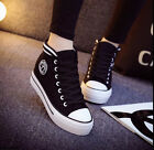 2015 New Korean Women's High-top Lace-up Platform Casual Canvas Sneakers Shoes