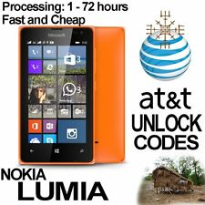 AT&T ALL Nokia Lumia 520 635 830 920 925 1200 1520 Unlock Code Factory Service