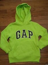 NEW GAP BOYS LOGO LIME GREEN PULLOVER HOODIE SWEATSHIRT SIZE XSMALL 4 5