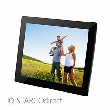 "15"" Digital Photo Frame with 2GB Internal Memory, Stand, & Remote - Glossy Black"