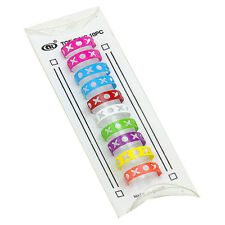 Toe rings BARGAIN pack of TEN yes TEN adjustable multi coloured noughts crosses
