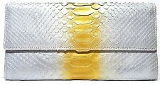 $75 New Real GENUINE PYTHON SNAKE SKIN LEATHER Women Wallet USA SELLER CLUTCH C7