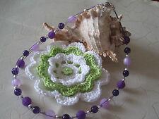wunderschöne Kette/Collier  mit echten Polarisperlen, silber Perlen Unikat,lila