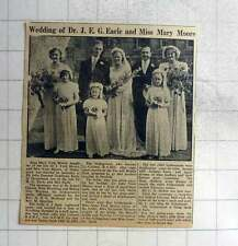 1949 Miss Mary Moore Weds Dr John Earle Of Hampstead