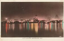 "*Canada Postcard-""The City Lights"" ...Vancouver, B.C.  (U1-866)"