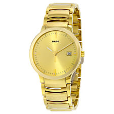 Rado Centrix Gold Dial Yellow Gold-Plated Stainless Steel Mens Watch R30527253