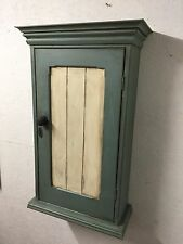 EDWARDIAN PAINTED PINE WALL CABINET