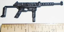 BIN A27  G I JOE Accessory            Black Machine Gun with Sliding Stock