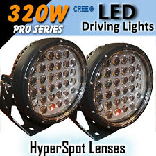 "LED Driving Lights 9"" 320w ""Hyper Spot"" PRO Series CREE 12/24v ""Awesome"""