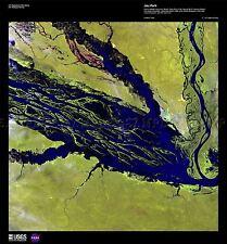 Carte de la science satellite negro rivière Amazon Brésil réplique Poster Print pam1569