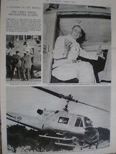 Photo article Pope Paul VI first pope in a helicopter 1964