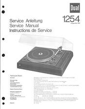 Dual Service Manual für Phono 1254