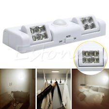 8 LED Induction Battery Operated Light PIR Motion Sensor Lamp Cabinet wardrobe