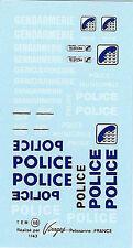 Decalbogen Service Public-Police-Gendarmerie 1:43 (110)