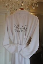 Personalised Bride, bridesmaid,Name Luxury fleece Robe, wedding  Dressing Gown