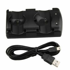 USB Dual Charger Charging Dock Station for PlayStation 3 PS3 Move Controller