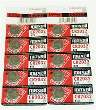 Maxell 10X Genuine CR2032 3V Lithium Button/Coin Cells batteries