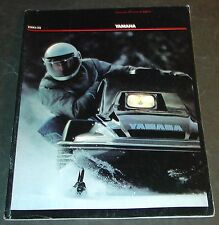 1980/1981 YAMAHA SNOWMOBILE ACCESSORIES & APPAREL SALES BROCHURE 36 PAGES (361)