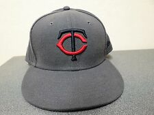 Minnesota Twins New Era NWOT Tags Fitted 7 5/8 Unisex Adult Hat Gray