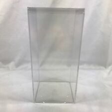 Display Case Acrylic Clear Plastic Box Dustproof US Perspex Base Protection Used