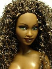 Nude Collector Edition Barbie Doll Mbili Model Muse Long Curly Hair