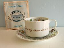 Zarka Fortune Telling Teacup & Saucer Tea Leaf Reading Predictions Vtg 70s