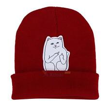 Women Men Winter Beanie Cat hat Crochet Knit Warm Ski Wool Cap Skull Hat