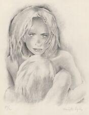 """""""PARALLELEMENT de VERLAINE"""" Pointe sèche de Mariette LYDIS  (Ex. d'artiste 1949)"""
