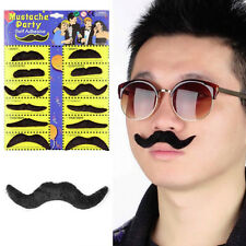 12Pcs Fake Moustache Stick-on Tash Mustache Fancy Dress Mexican Halloween New