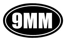 9MM Vinyl Decal Sticker Car Window Wall Bumper Gun Ammo Pistol Home Security
