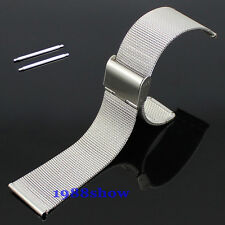 New 20mm Stainless Steel Watch Mesh Bracelets Straps Replacement Wrist Band