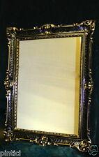 Hochzeitsrahmen 90x70  Bilderrahmen Schwarz Gold Antik Bilderrahmen gross xxl