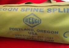 SKEDCO OREGON SPINE SPLINT II (OSS II) COYOTE BROWN CASE TAN GOOD CONDITION