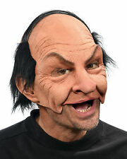 Nicky Funny Old Bald Man Adult Halloween Mask Eat Drink & Party While Wearing