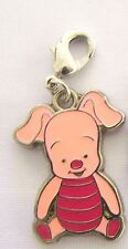 PIGLET from WINNIE THE POOH Clip On Charm FOR Bracelet key ring zipper necklace