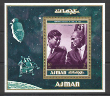 Ajman 1962 Space/Kennedy/JFK/John Glenn/Mercury-Atlas 6/Rockets 1v m/s (s2840)