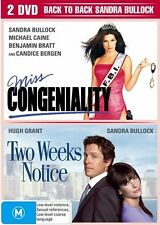 MISS CONGENIALITY / TWO WEEKS NOTICE DVD - 2 DISC (New) SEALED R-4