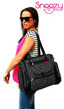 Snoozy Baby Annabelle Baby Bag Nappy Bag Diaper Bag (Large) BLACK