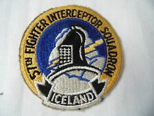 INSIGNE US AIR FORCE ESCADRILLE USAF 57th FIGHTER INTERCEPTOR SQUADRON ICELAND